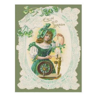 Doily van het Weefgetouw van het meisje de Klaver Briefkaart