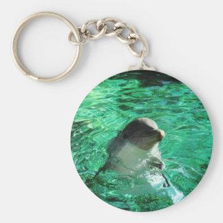 Dolfijn Basic Ronde Button Sleutelhanger