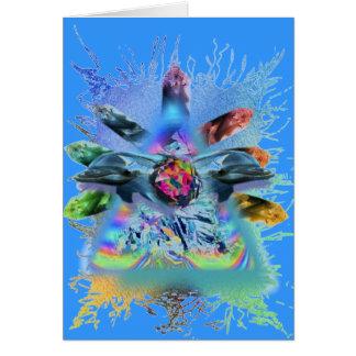 dolfijn crystaline consciouness briefkaarten 0