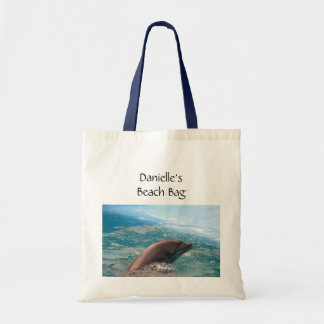 Dolfijn die in de Blauwe OceaanNaam van de Douane Draagtas