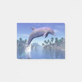 Dolfijn in de 3D keerkringen - geef terug Post-it® Notes
