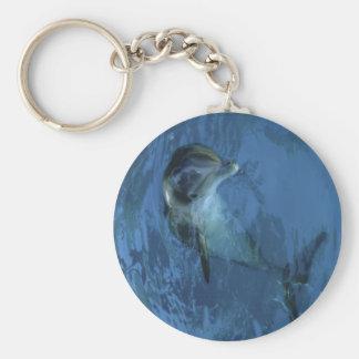 Dolfijn Keychain Basic Ronde Button Sleutelhanger