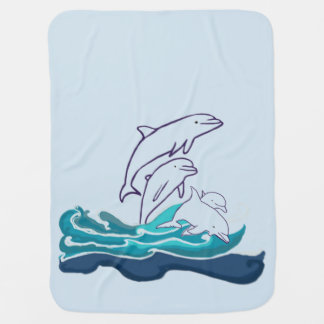 Dolfijnen die de Deken van het Baby, het Leven van Inbakerdoek