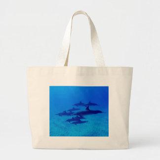 Dolfijnen die in het Blauwe Zee zwemmen Grote Draagtas