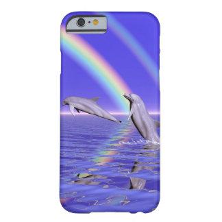 Dolfijnen en iPhone van de Regenboog 6/6s Barely There iPhone 6 Hoesje