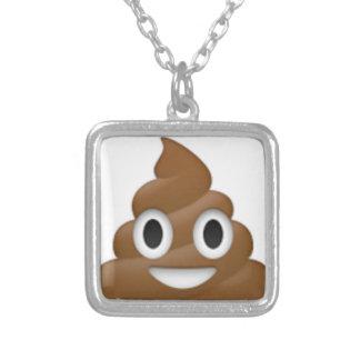 Dolkomische achterschip-emoji - Poo cartoonontwerp Zilver Vergulden Ketting