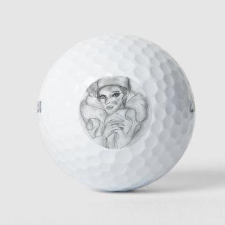 Doll van de vin - 4 golfballen
