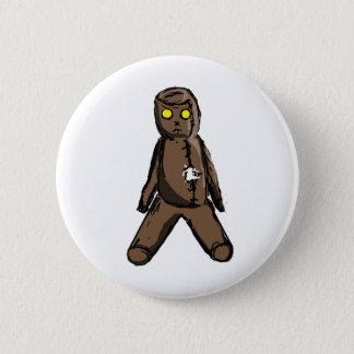 Doll van het voodoo ronde button 5,7 cm