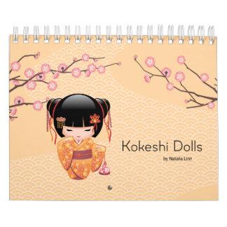 Doll van Kokeshi Kalender