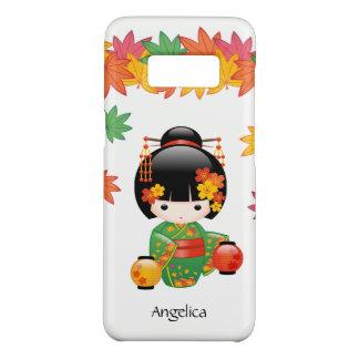 Doll van Kokeshi van de herfst - het Groene Meisje Case-Mate Samsung Galaxy S8 Hoesje