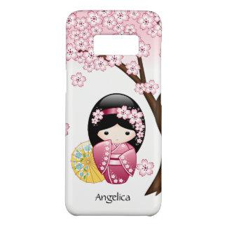 Doll van Kokeshi van de lente - het Leuke Japanse Case-Mate Samsung Galaxy S8 Hoesje
