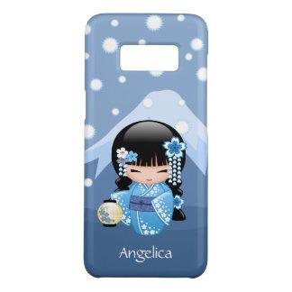 Doll van Kokeshi van de winter - het Blauwe Meisje Case-Mate Samsung Galaxy S8 Hoesje