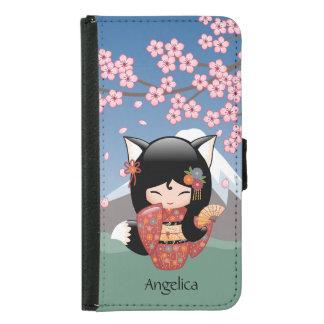 Doll van Kokeshi van Kitsune - het Zwarte Meisje