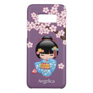 Doll van Kokeshi van Maiko - het Blauwe Meisje van Case-Mate Samsung Galaxy S8 Hoesje