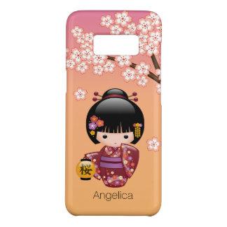 Doll van Kokeshi van Sakura - het Meisje van de Case-Mate Samsung Galaxy S8 Hoesje