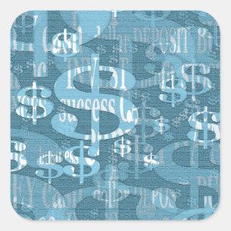 Dollar Vierkante Sticker