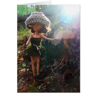 dolly paddestoel forager wenskaart