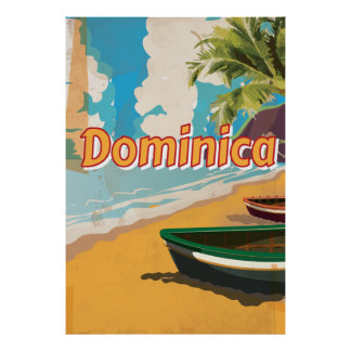 Dominica het Vintage Poster van de vakantie