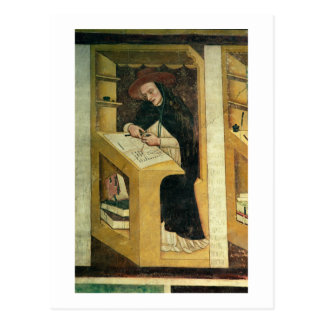 Dominicaanse Monnik bij zijn Bureau, van de Cyclus Briefkaart