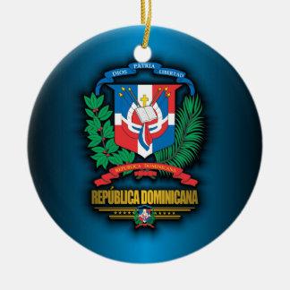 Dominicaanse Republiek COA Rond Keramisch Ornament