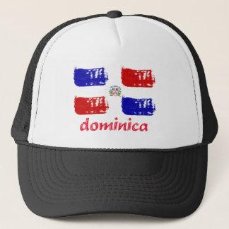 Dominicaanse republiek grunge vlag trucker pet
