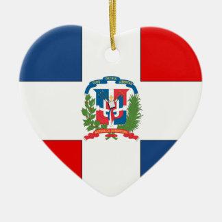 Dominicaanse Republiek Keramisch Hart Ornament