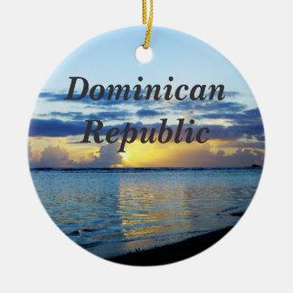 Dominicaanse Republiek Rond Keramisch Ornament