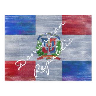 Dominicaanse Republiek verontruste vlag Briefkaart