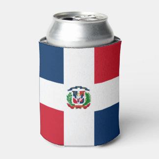 Dominicaanse vlag blikjeskoeler