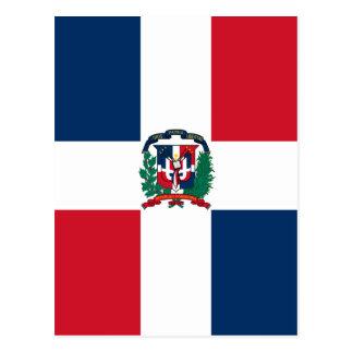 Dominicaanse vlag helemaal over ontwerp briefkaart