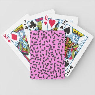 Domino's op Roze Bicycle Speelkaarten