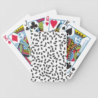 Domino's op Wit Bicycle Speelkaarten