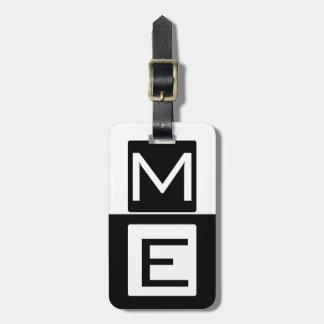 Domoor Met monogram Bagagelabel