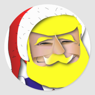 Donald Claus Ronde Sticker