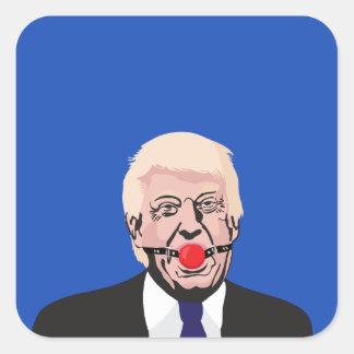 Donald J. Trump met prop - voeg uw eigen tekst toe Vierkante Sticker