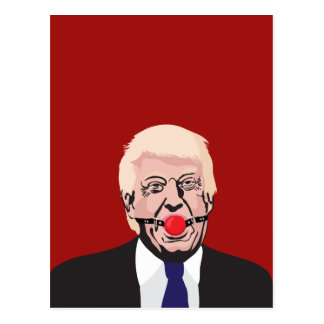 Donald J. Trump met rode prop - DIY Briefkaart