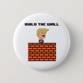 """Donald met 8 bits Trump de Knoop """"bouwt van de Ronde Button 5,7 Cm"""