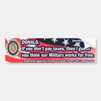 Donald Military Works kostenloos Bumpersticker