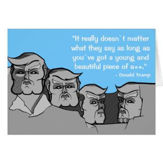 Donald Trump als Onderstel Rushmore Briefkaarten 0