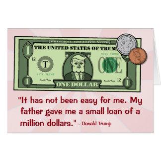 Donald Trump als Rekening van de Dollar Briefkaarten 0
