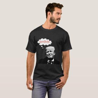 Donald Trump die over covfefeoverhemd denken voor T Shirt