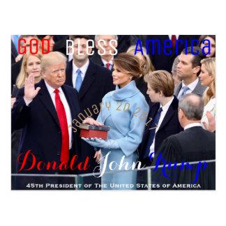 Donald Trump die zijn Eed van Kantoor 20 nemen Briefkaart