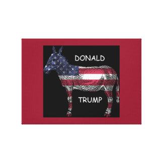 Donald Trump - wat een Ezel Canvas Afdrukken