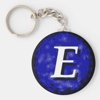 Donkerblauw E Sleutelhanger
