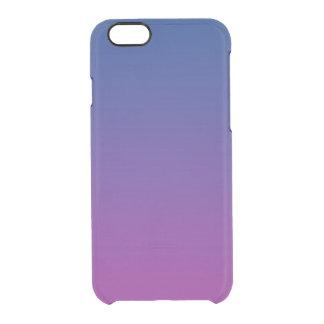 Donkerblauwe & Paarse Ombre Doorzichtig iPhone 6/6S Hoesje