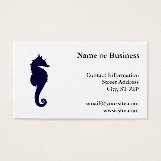 Donkerblauwe Seahorse Visitekaartjes
