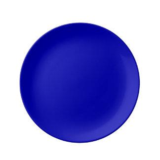 Donkerblauwe Stevige Kleur Porseleinen Bord