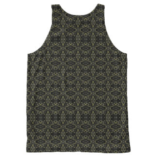 Donkere Interalce Stammen All-Over-Print Tank Top