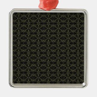 Donkere Interalce Stammen Zilverkleurig Vierkant Ornament