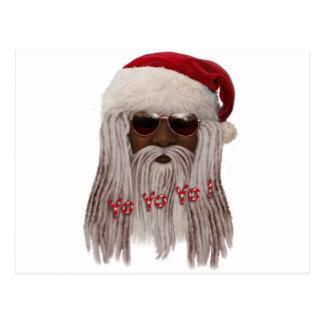 (Donkere) kerstman in Ontzetting - Jojo Yo! Briefkaart